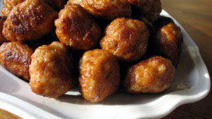Applesauce Meatballs