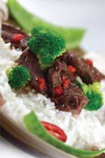 Ott's Famous Stir-Fried Beef with Broccoli and Bell Peppers