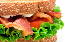 Bacon, Lettuce and Ott's Sandwich