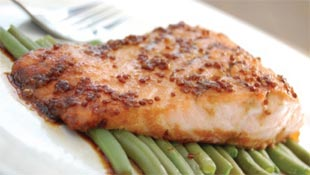 Ott's Honey Mustard Glazed Salmon Fillets