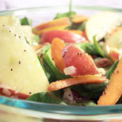 Ott's Apple, Pecan, Cranberry, and Avocado Spinach Salad